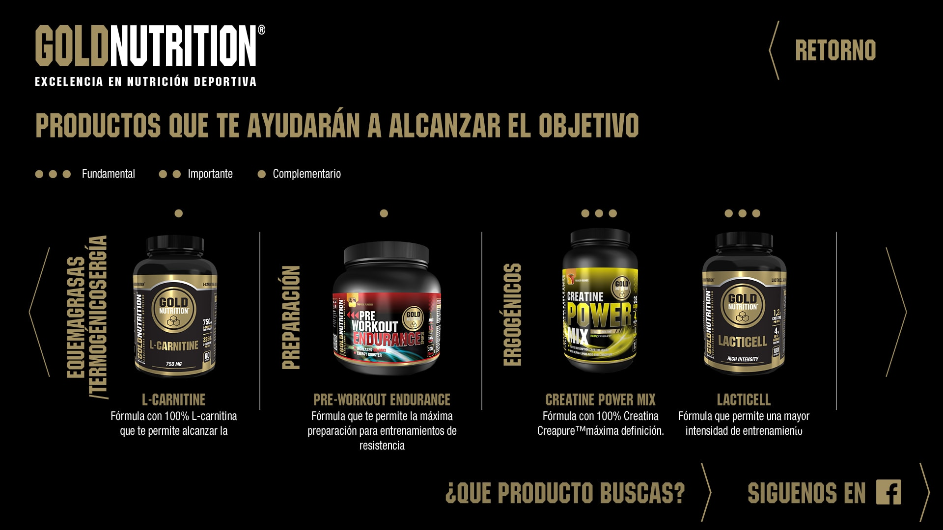 Gold Nutrition - Products by goal