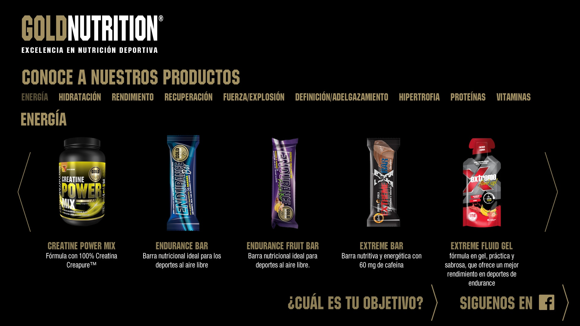 Gold Nutrition - Products