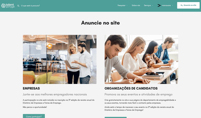 Talent Portugal - Empresas e Org. Candidatos
